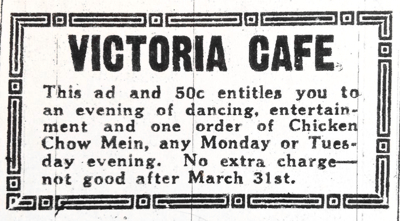 Victoria Cafe Coupon